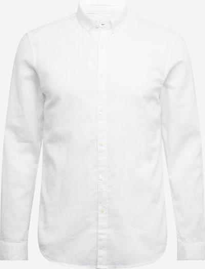 TOM TAILOR DENIM Hemd 'longsleeve cotton linen shirt' in weiß, Produktansicht