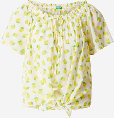 UNITED COLORS OF BENETTON Bluse in zitrone / grasgrün / weiß, Produktansicht