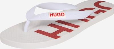 HUGO Zehentrenner in hellrot / weiß, Produktansicht