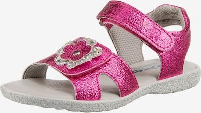 myToys-COLLECTION Sandale in dunkelpink / silber, Produktansicht