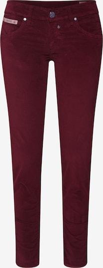 Herrlicher Pantalon 'Touch Cropped Velvet Stretch' en rouge: Vue de face