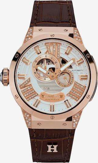 HAEMMER Uhr in braun / gold / weiß, Produktansicht
