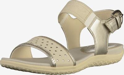 GEOX Sandalen met riem in de kleur Beige / Zilver, Productweergave