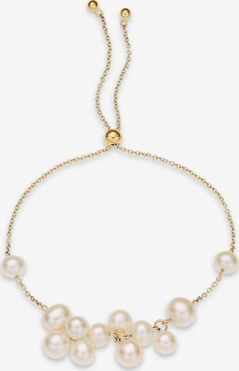 CHRIST Armband in gold / perlweiß, Produktansicht