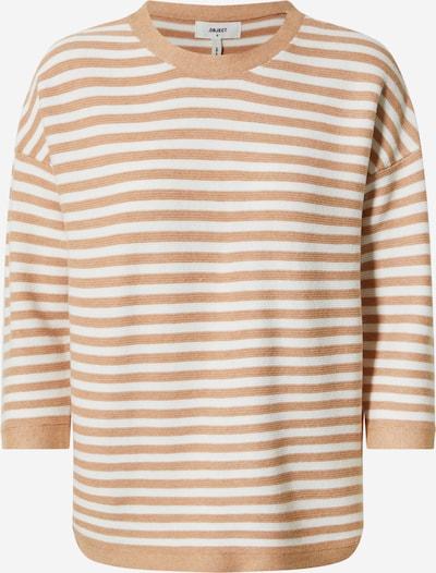 OBJECT Sweatshirt 'TAMITA' in beige / weiß, Produktansicht