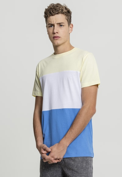 Urban Classics T-Shirt in himmelblau / pastellgelb / weiß: Frontalansicht