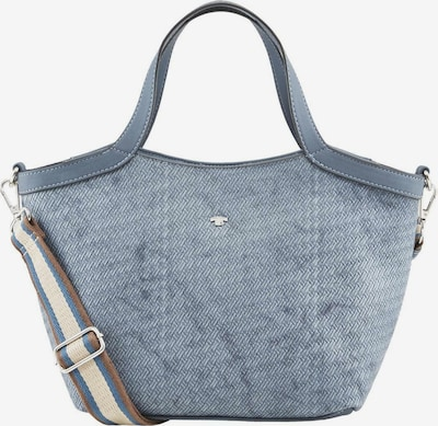 TOM TAILOR Shopper 'MESSINA' in royalblau / taubenblau / braun / hellgelb, Produktansicht