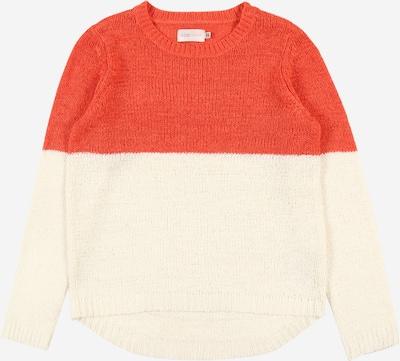 KIDS ONLY Pullover 'GEENA' in koralle / weiß, Produktansicht