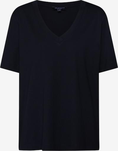SELECTED FEMME Shirt 'SLFSTANDARD SS V-NECK TEE' in schwarz, Produktansicht