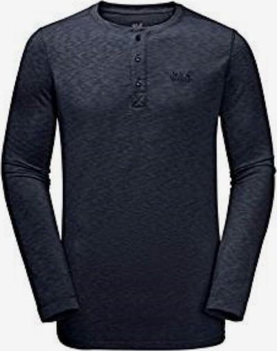 JACK WOLFSKIN Sweatshirt 'Winter Travel Henley' in dunkelblau, Produktansicht