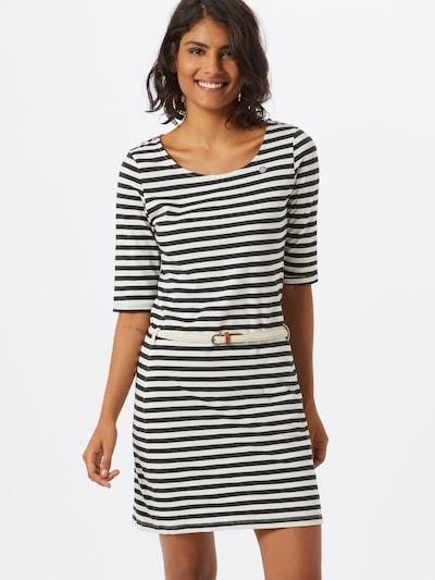 Ragwear Kleid 'TAMY' in schwarz / weiß, Modelansicht