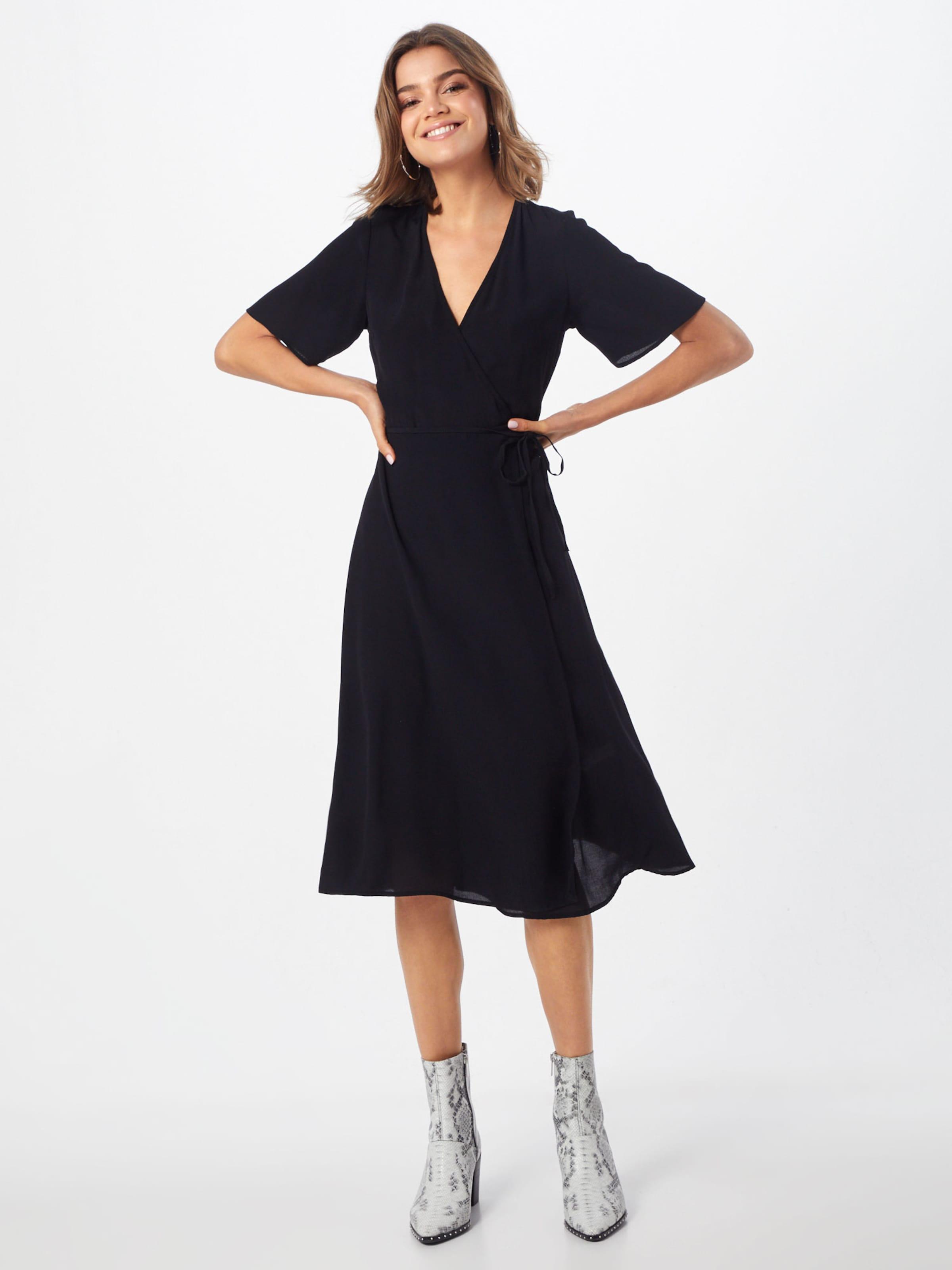 Midi Schwarz New Kleid In 'f Plain Wrap Drs' Look 0kXNnO8wZP