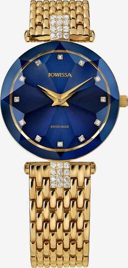JOWISSA Quarzuhr 'Facet Strass' in blau / gold, Produktansicht
