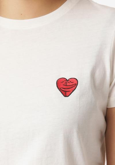 Iriedaily T-Shirt 'Cuddle Girl' in weiß: Frontalansicht