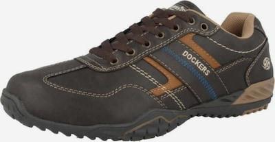 Dockers Schnürschuhe in dunkelbraun, Produktansicht