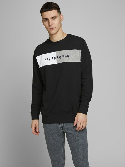JACK & JONES Sweatshirt in schwarz: Frontalansicht