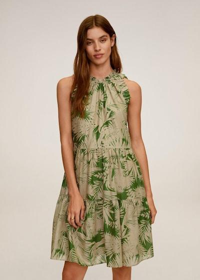 MANGO Kleid in beige / grün, Modelansicht