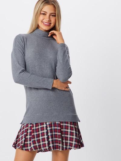 EDC BY ESPRIT Kleid '2 in 1' in grau / weinrot, Modelansicht