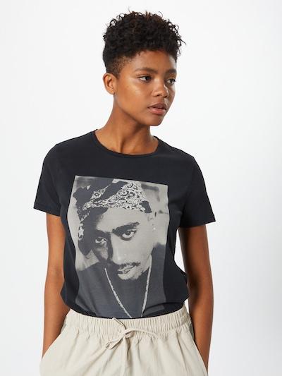 ONLY Majica | siva / črna barva: Frontalni pogled