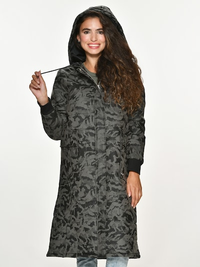 Maze Mantel 'Canoga' in khaki / schwarz, Modelansicht