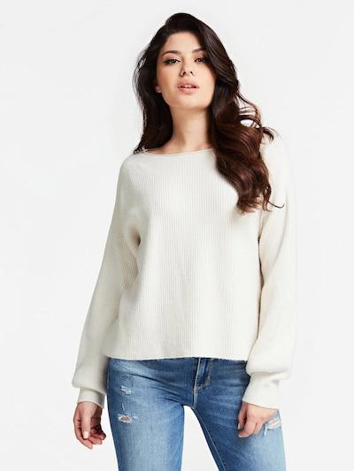 GUESS Pullover in wollweiß, Modelansicht