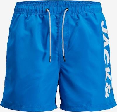 JACK & JONES Logo Badeshorts in blau, Produktansicht