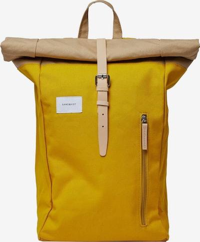 SANDQVIST Batoh 'Dante' - světle béžová / žlutá, Produkt