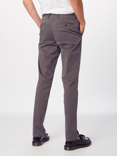 TOMMY HILFIGER Chino kalhoty 'CORE STRAIGHT CHINO GMD FLEX' - šedá, Model/ka