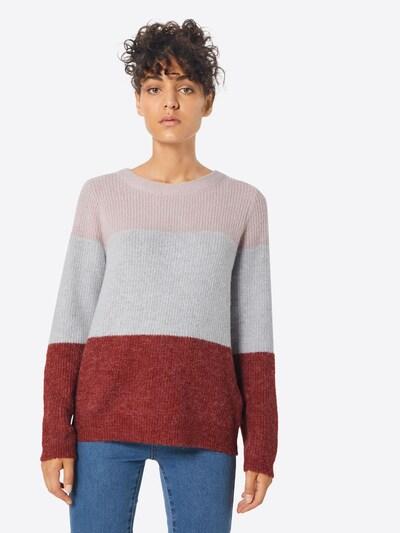 OBJECT Pullover in rosa / rot, Modelansicht