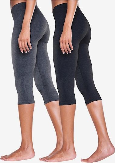 Leggings VIVANCE di colore grigio / nero: Vista frontale
