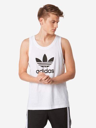 ADIDAS ORIGINALS Majica 'Trefoul' | črna / bela barva, Prikaz modela