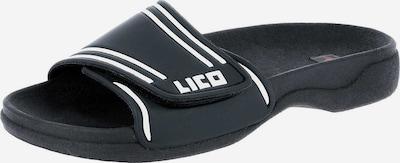 LICO Pantoletten in schwarz / weiß, Produktansicht