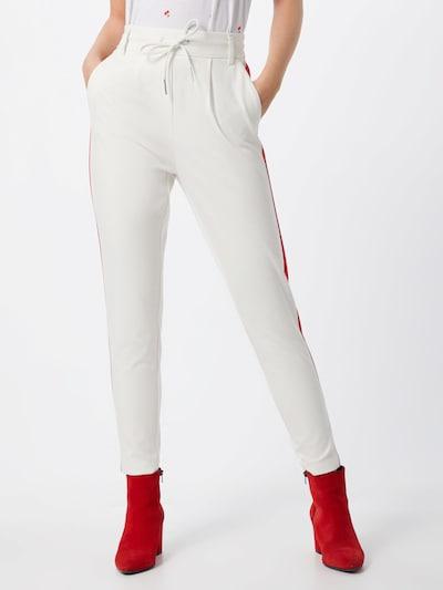 piros / fehér ONLY Élére vasalt nadrágok 'POPTRASH': Elölnézet
