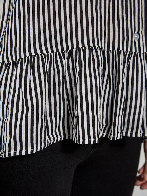 PIECES Gestreifte Peplum Bluse