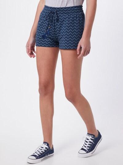 Ragwear Shorts 'ANIKO' in blue denim / offwhite, Modelansicht