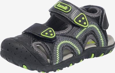 Kamik Sandale 'SEATURTLE' in anthrazit / neongrün, Produktansicht