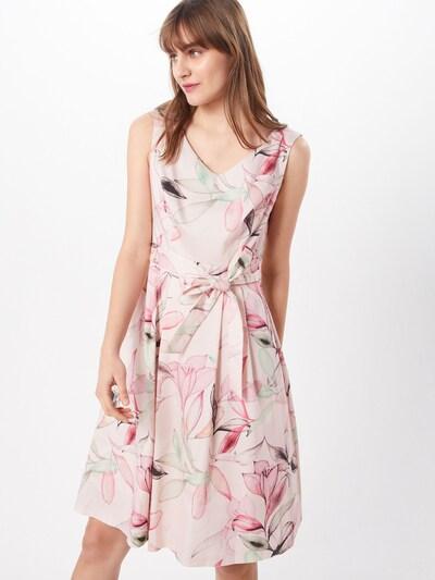 COMMA Kleid in grün / rosa / schwarz, Modelansicht