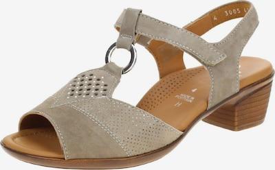 ARA Sandale in beige: Frontalansicht