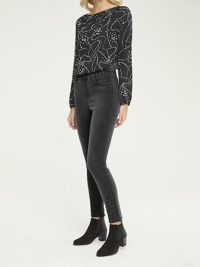 heine Jeggings in de kleur Black denim, Modelweergave