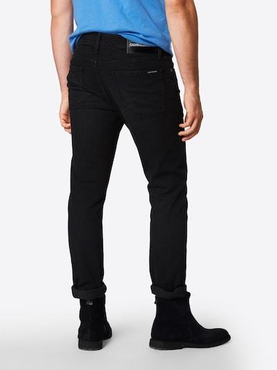 Calvin Klein Jeans Džíny 'CKJ 026 SLIM' - černá džínovina: Pohled zezadu
