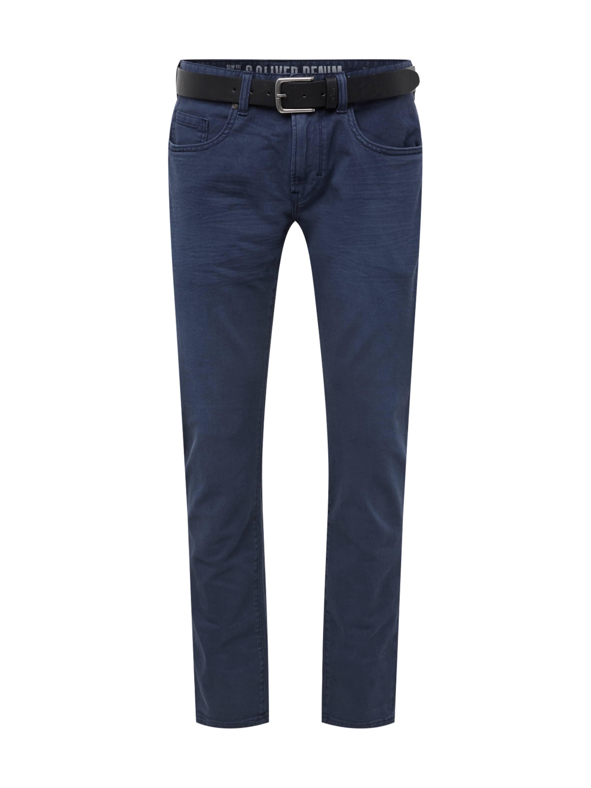 oliver Jean S Label Bleu Denim En 'pants Slim' Red F3KJluTc1