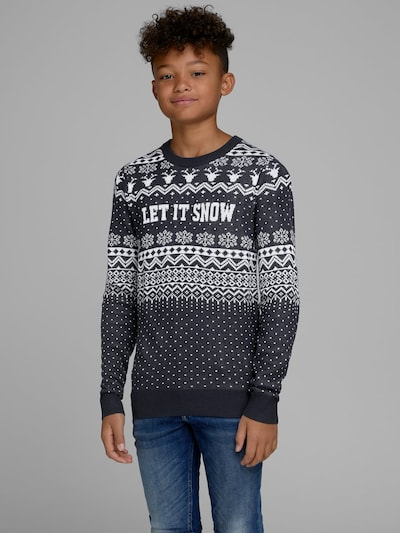 Jack & Jones Junior Pullover in navy / weiß: Frontalansicht