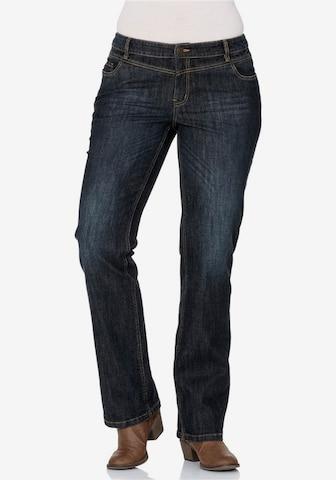 SHEEGO Stretch-Jeans mit geradem Schnitt in Blau