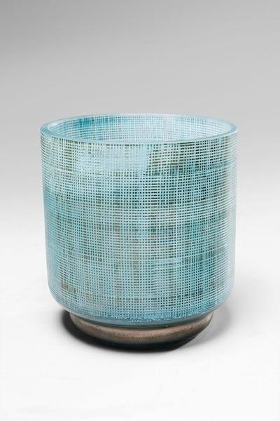 KARE Design Vase 'Jute' in opal / grau, Produktansicht