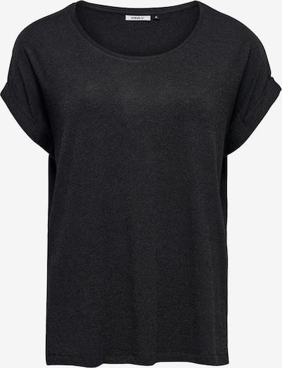 ONLY T-shirt en noir chiné: Vue de face