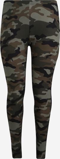 Urban Classics Curvy Leggings in grün / khaki, Produktansicht