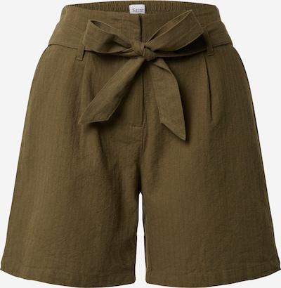 SAINT TROPEZ Shorts in khaki / dunkelgrün, Produktansicht