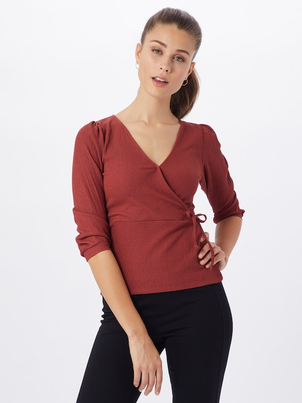 ABOUT YOU Blouse 'Mieke' in de kleur Roestrood, Modelweergave
