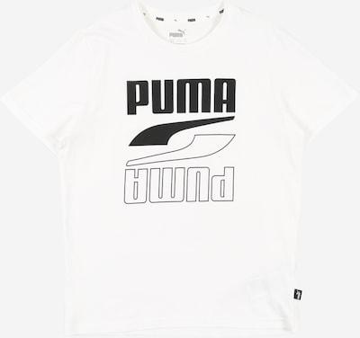 PUMA T-Shirt in dunkelgrau / weiß, Produktansicht