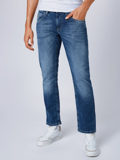 CAMP DAVID Jean 'NICO BLU0685 medium blue used/HJ30' en bleu denim, Vue avec modèle